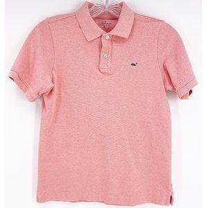 Vineyard Vines Boys Pink Classic Pique Polo~M